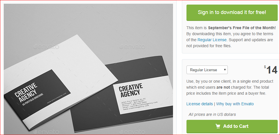 Creative Agency - A5 Brochure